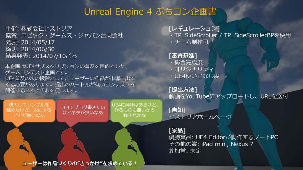 UE4ぷちコン企画書